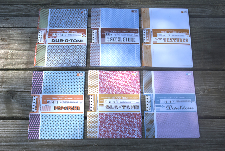 SET 5 exteriors. Totally devoid of the vintage line art, yet nonetheless uber-French. The background patterns are embossed--- and the binding is most unique.