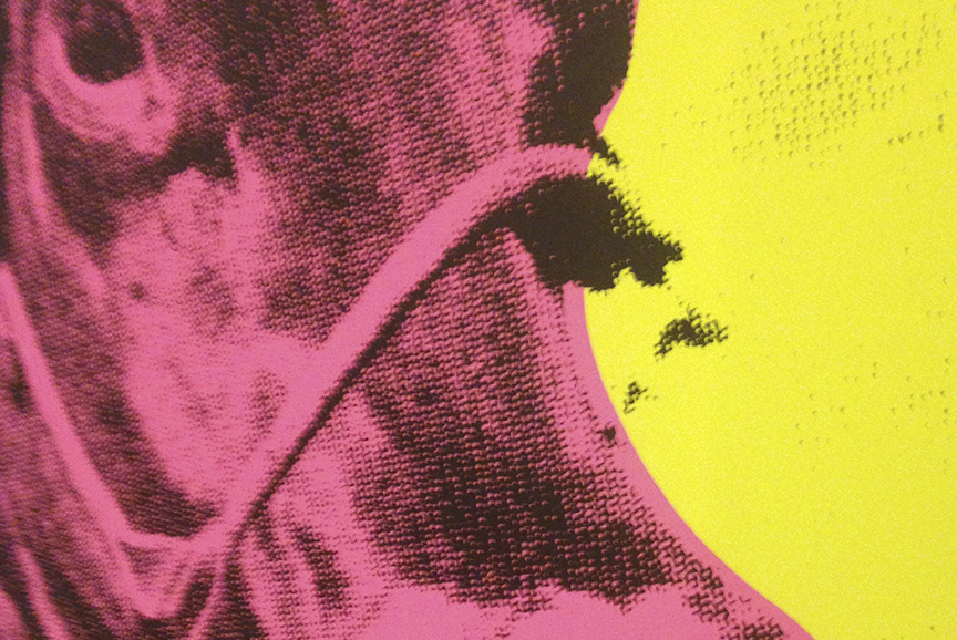 Detail: Cow head silkscreen
