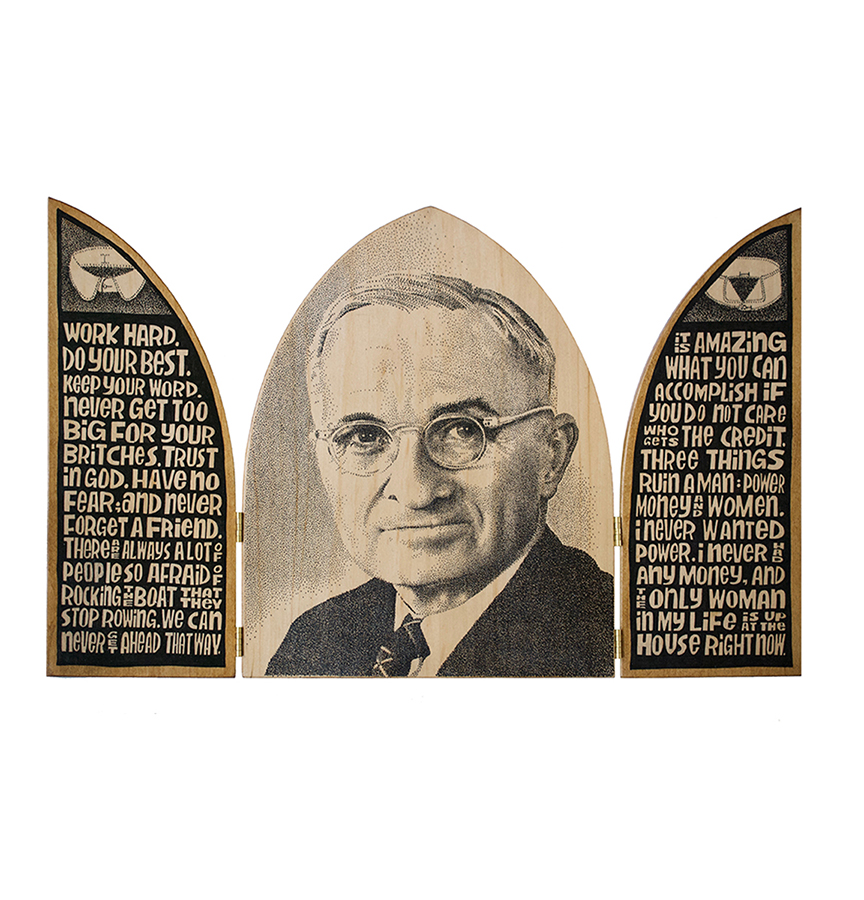 Harry Truman triptych