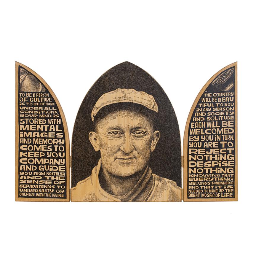 Ty Cobb triptych