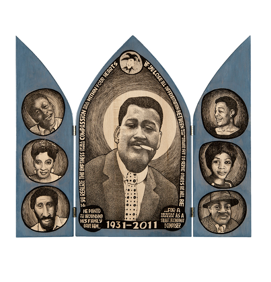Black White and Blue: Ray Bryant triptych