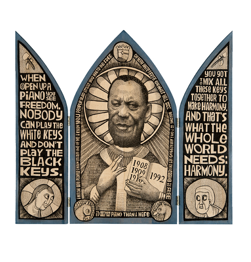 Black White and Blue: Champion Jack Dupree triptych
