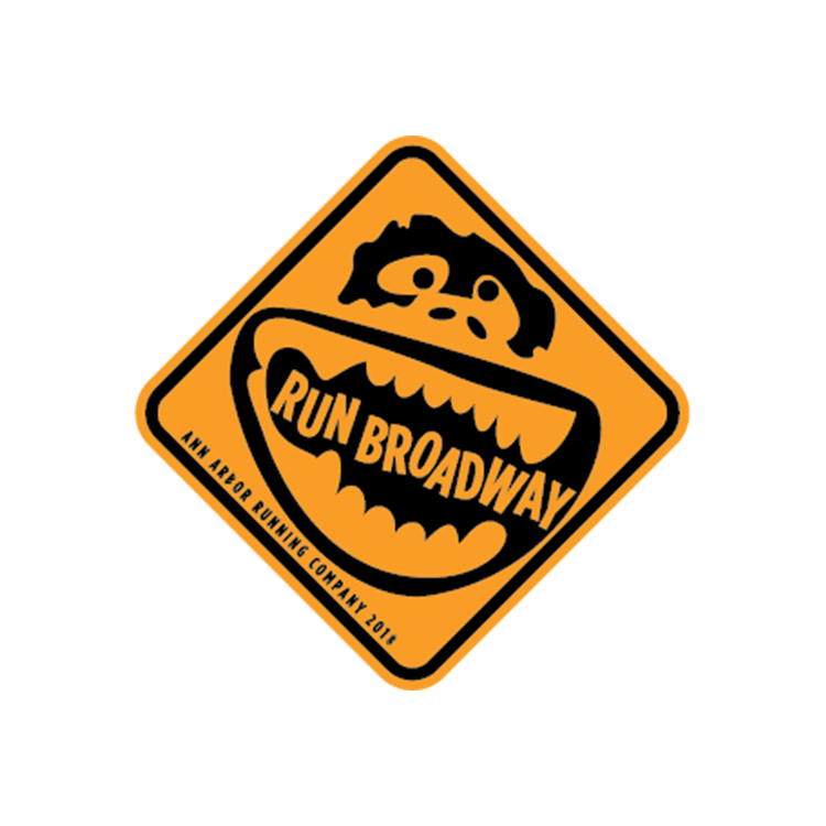 Ann Arbor Running Co. Run Broadway Logo