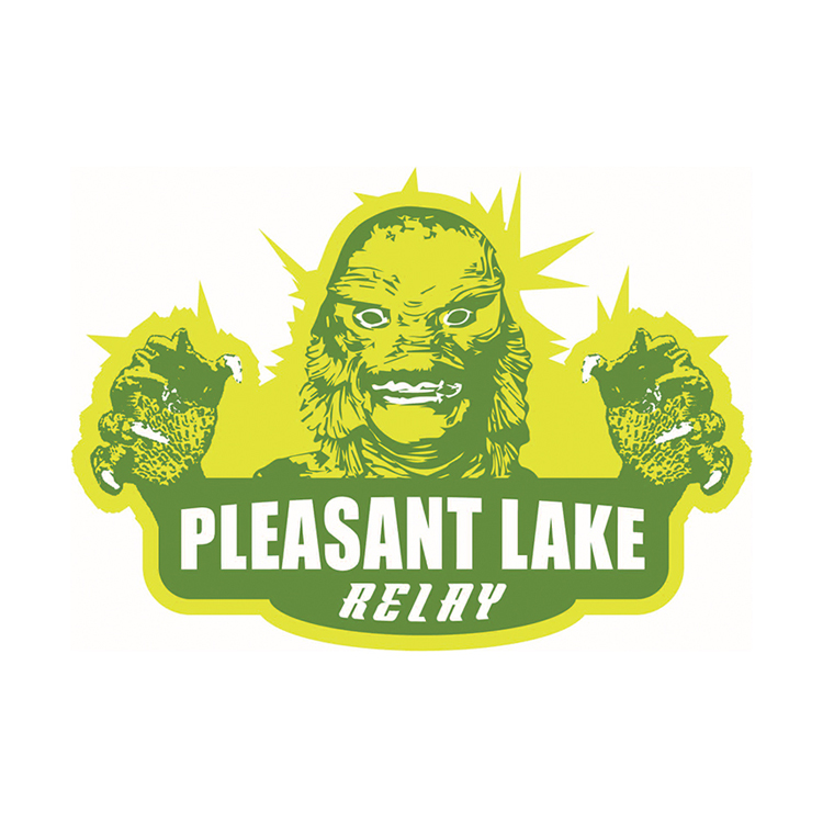 Ann Arbor Running Co. Pleasant Lake Relay Logo Design
