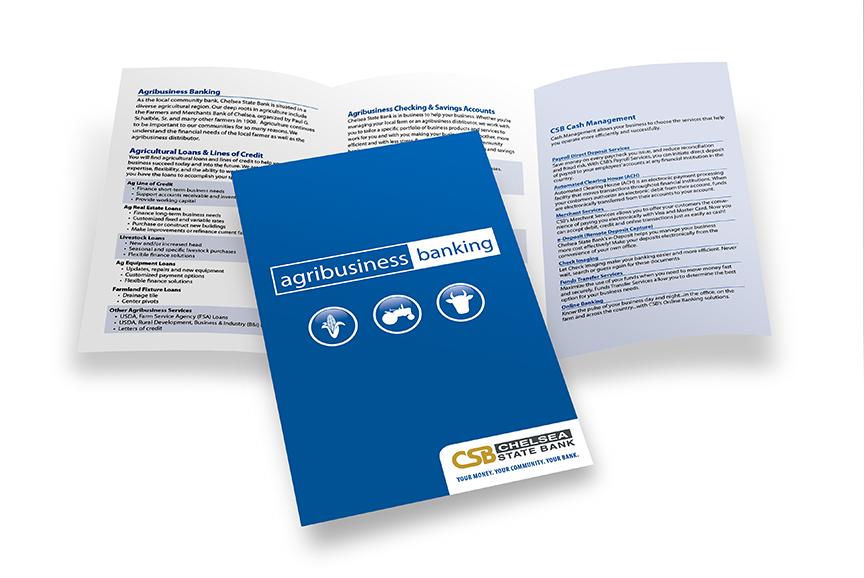 Chelsea State Bank brochure