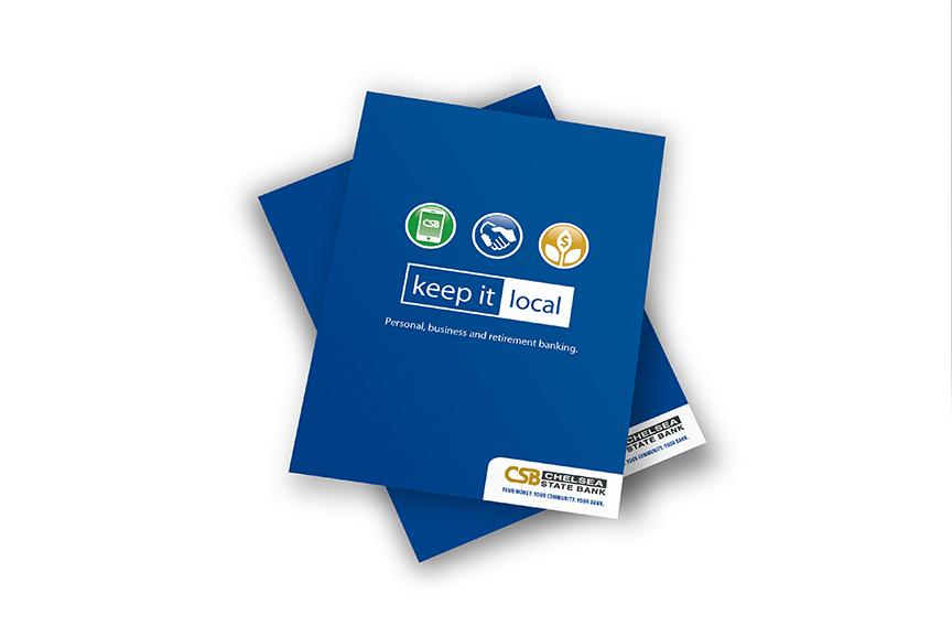 Chelsea State Bank presentation folder