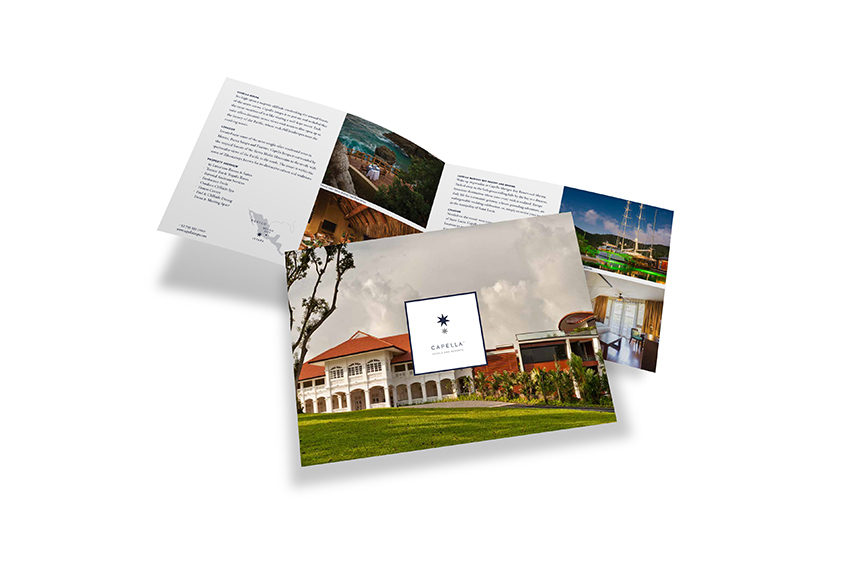 Capella Hotel and Resorts brochure