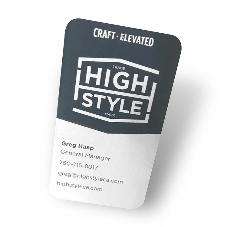 High Style business card