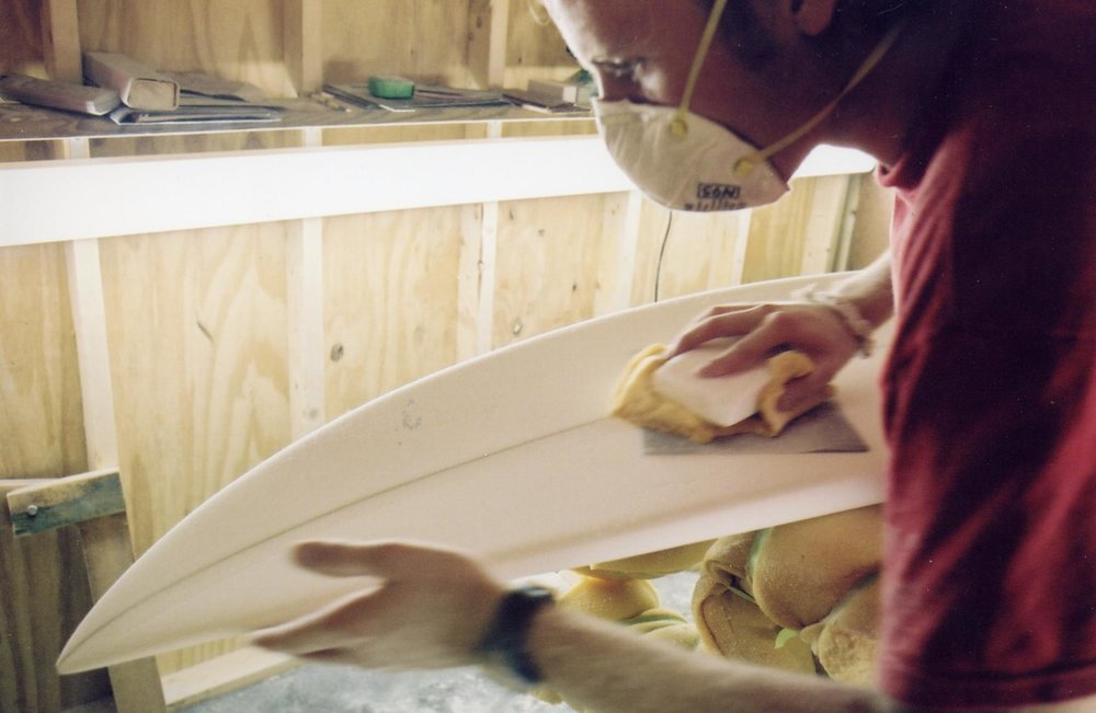15 years ago :: Shaping a custom order in the shed my dad helped me build.