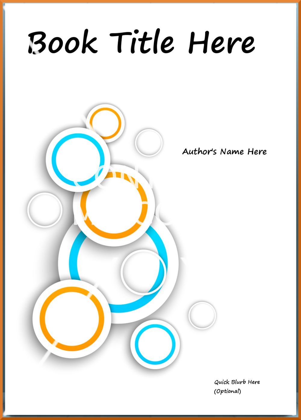 Concentric Blue & Orange Rings eBook Cover