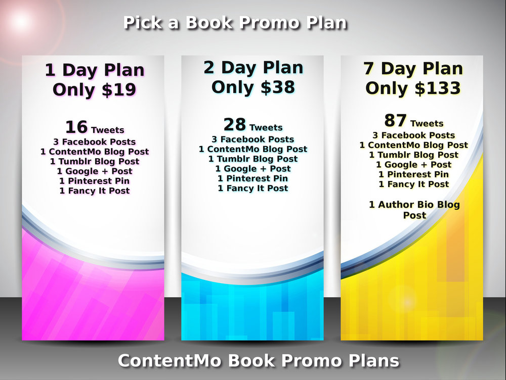 Social Media Plans for Authors Starting at $19
