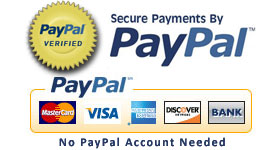 All Payments are PAYPAL SECURE Use Your Credit Card or PayPal Balance!