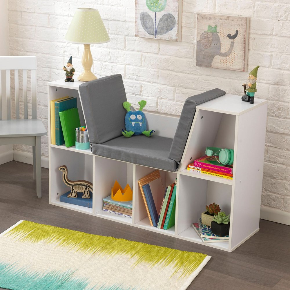 KidKraft Bookcase with Reading Nook Toy, White.jpg