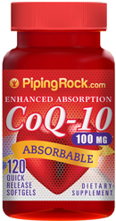 Absorbable CoQ10 100 mg | 120 Softgels Right Now Only $6.99 !