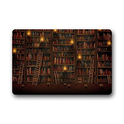 METIME Custom Library Books Bookshelf Doormat Welcome Mat Rug Outdoor Indoor Floor Mats.jpg