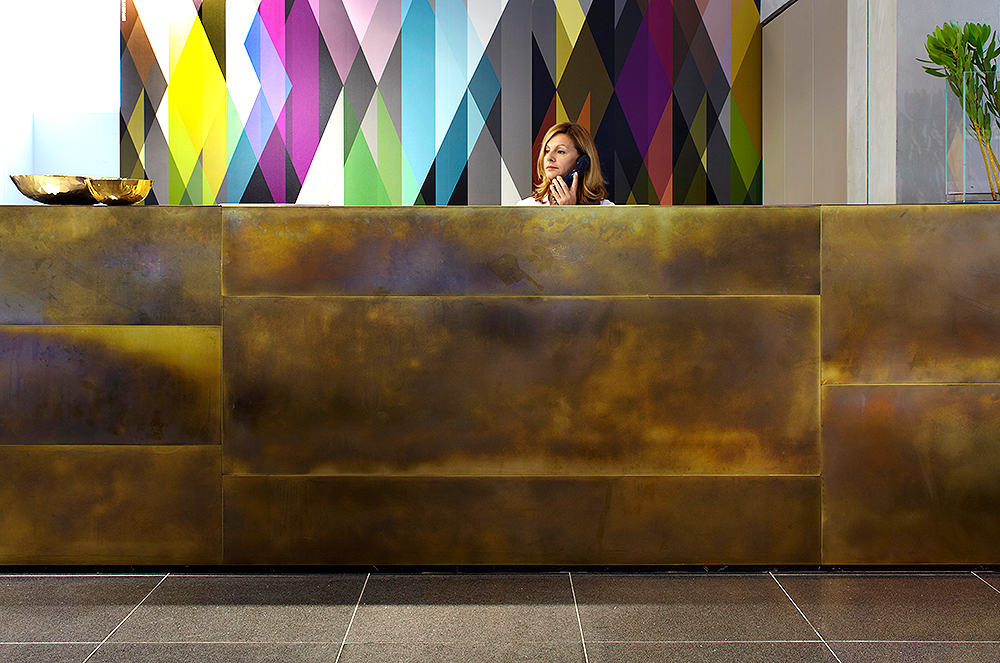 Space Furniture | Brass Brown Florentine Tarnish Sheet Metal