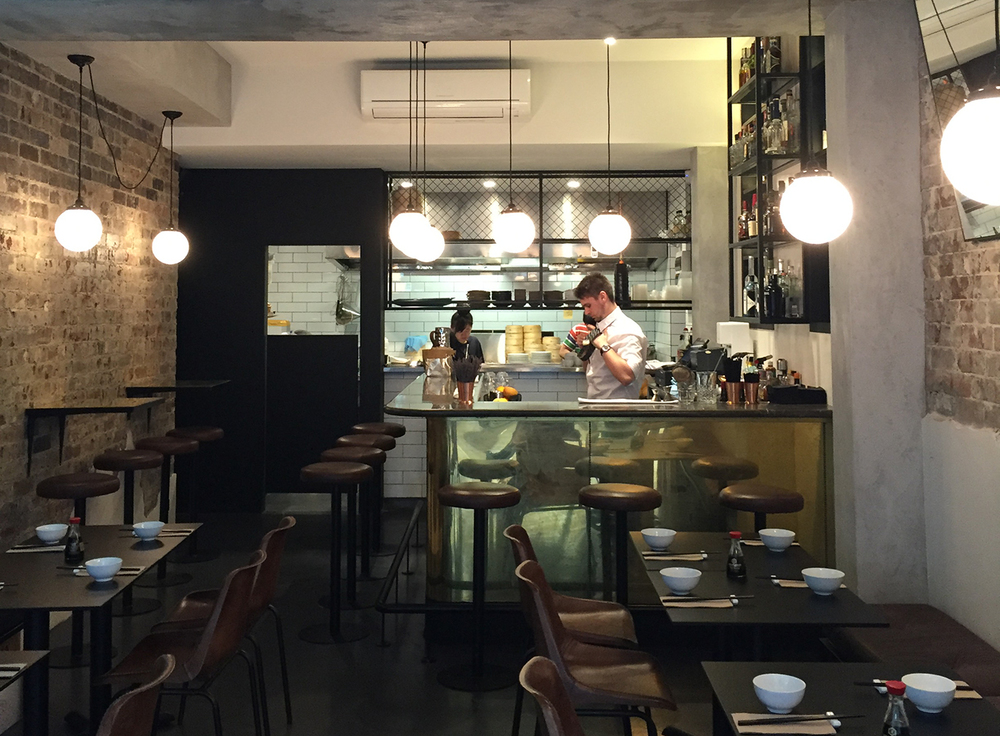 Fei Jai Restaurant | Bar Front in Brass Sheet Tarnish