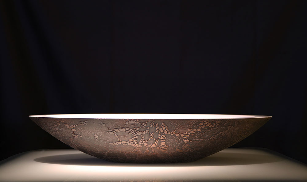 Solid Surface Hand Basin | Copper Florentine Cayman