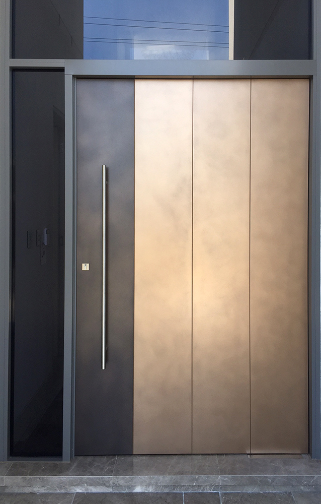 Bronze & Treasury Bronze Strip Door