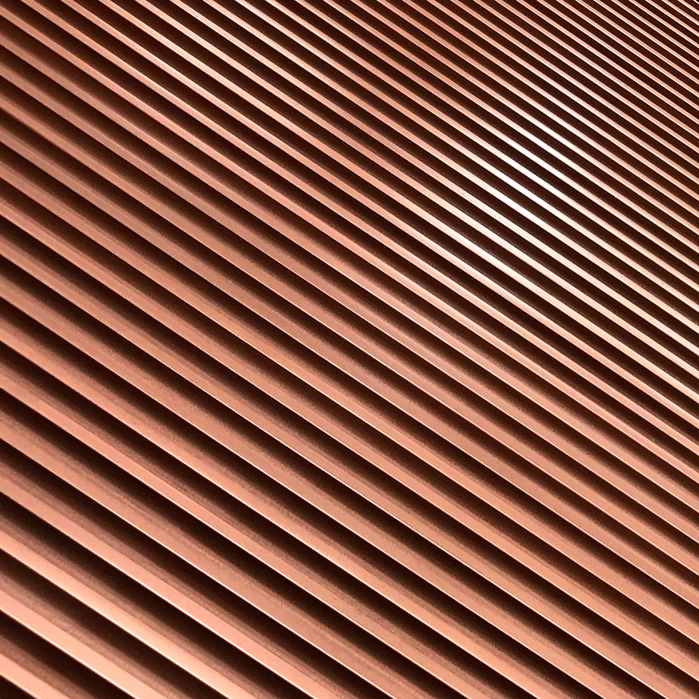Doric Fluted Profile | Copper Smooth & Cast
