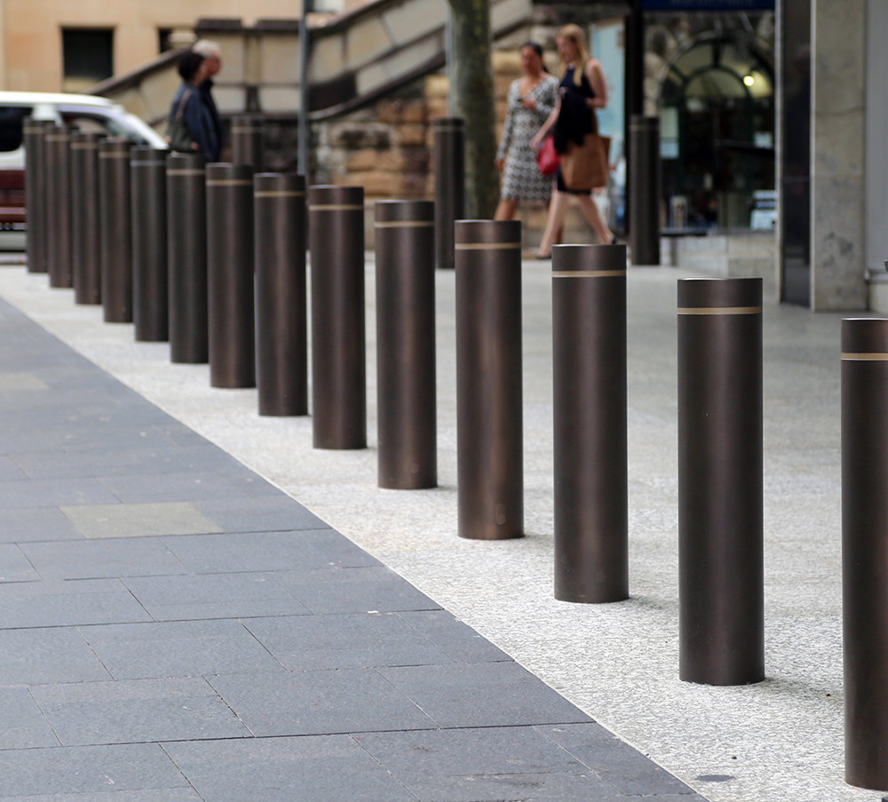 RBA Bollards - Treasury Bronze Pseudo Smooth Pearl Patina