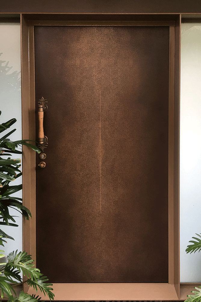 Shagreen Door | Gold Bronze Double Brown Florentine