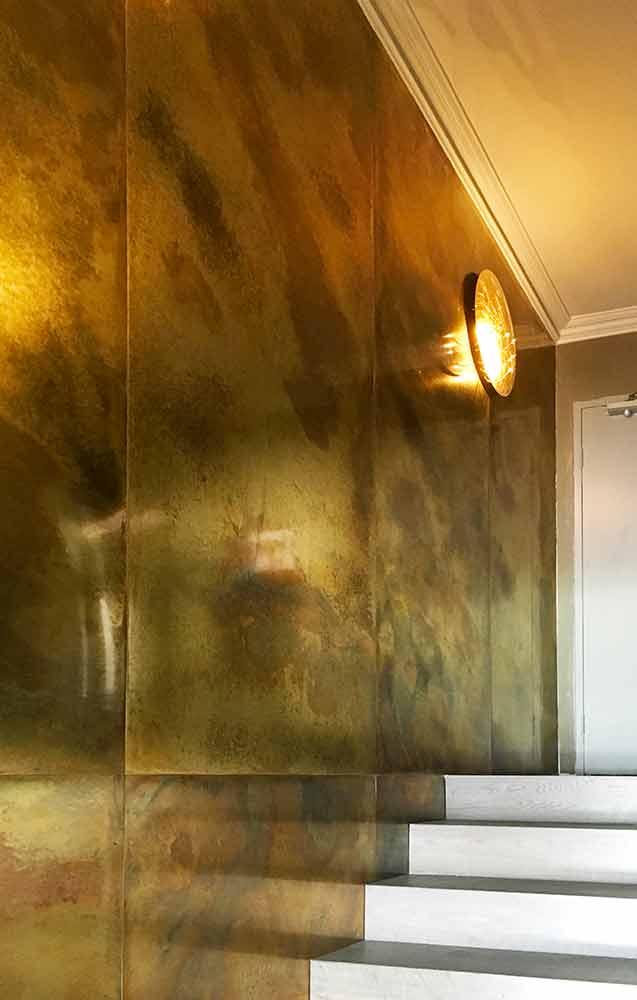 Brass Sheet Metal - Pearl Patina
