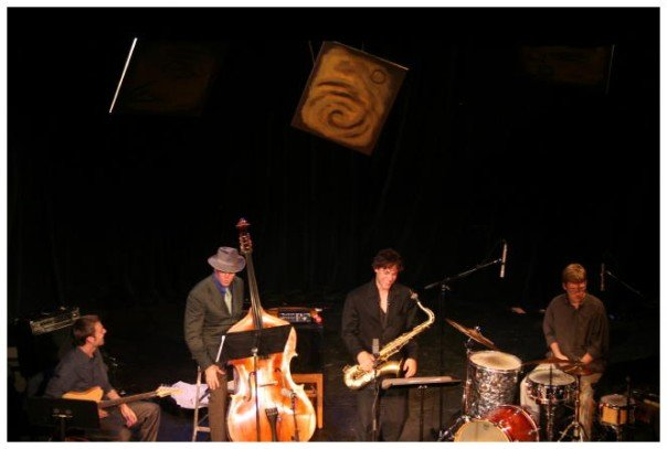 Microtonal concert in 2007 in Boulder Colorado. Chris Mosley - Guitar, Mike Thies - Drums, Guy Tyler - Bass