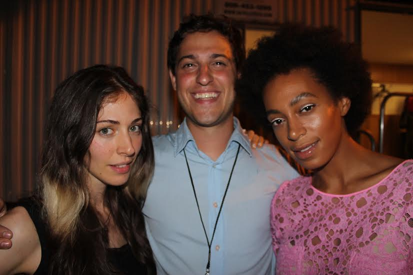 With Solange and Caroline at the Pitchfork Festival in Chicago.