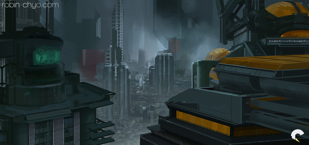 """Expanded composition with some """"hero"""" buildings blocked out."""