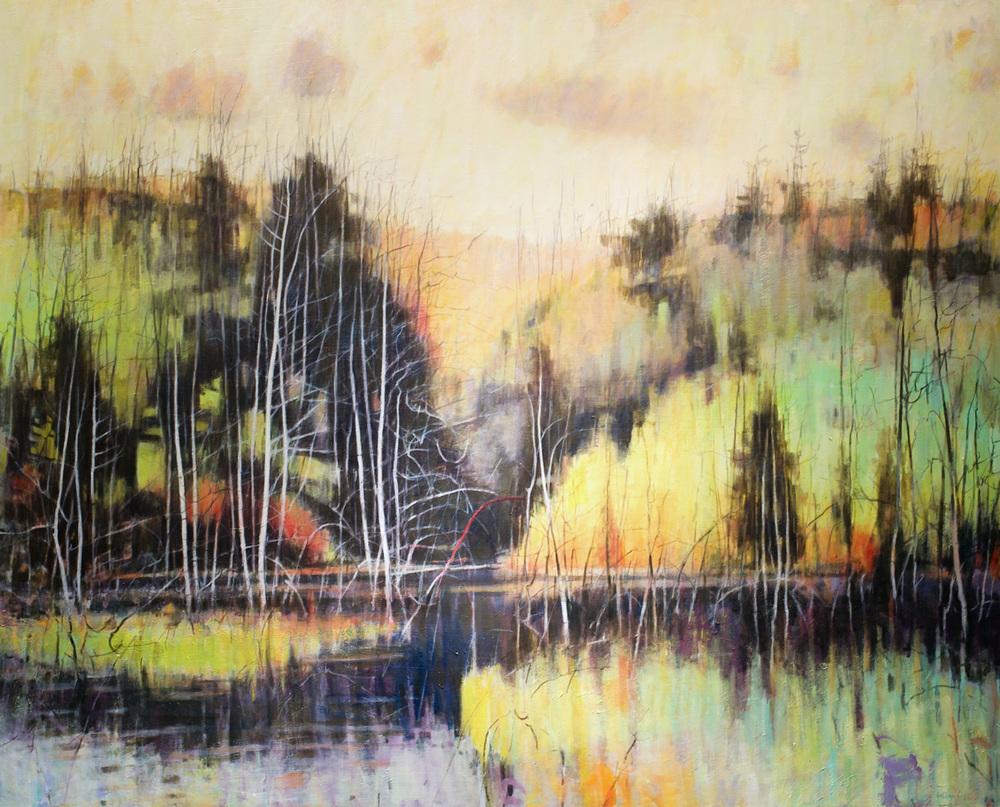 """The Secret, William Chickillo, 65"""" x 80"""" oil on canvas"""