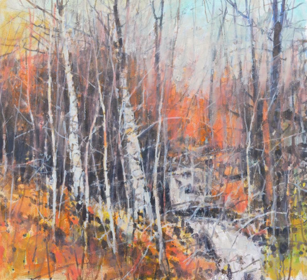 """Little Falls, William Chickillo, 21"""" x 23"""" oil on canvas"""