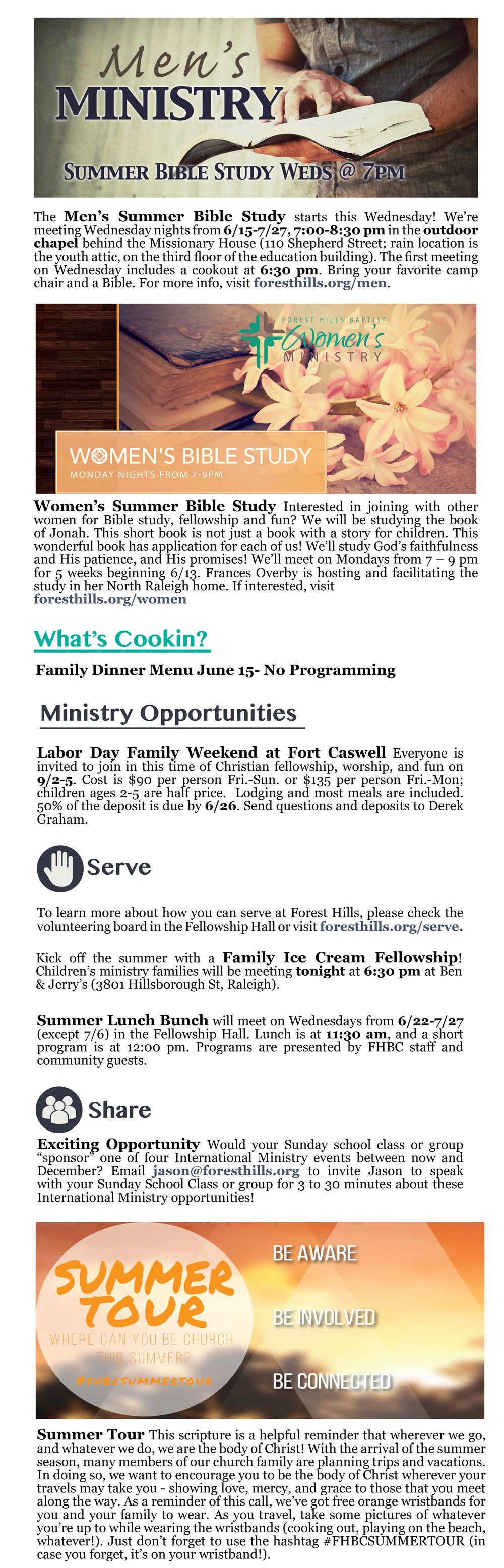 forest hills baptist church raleigh weekly update