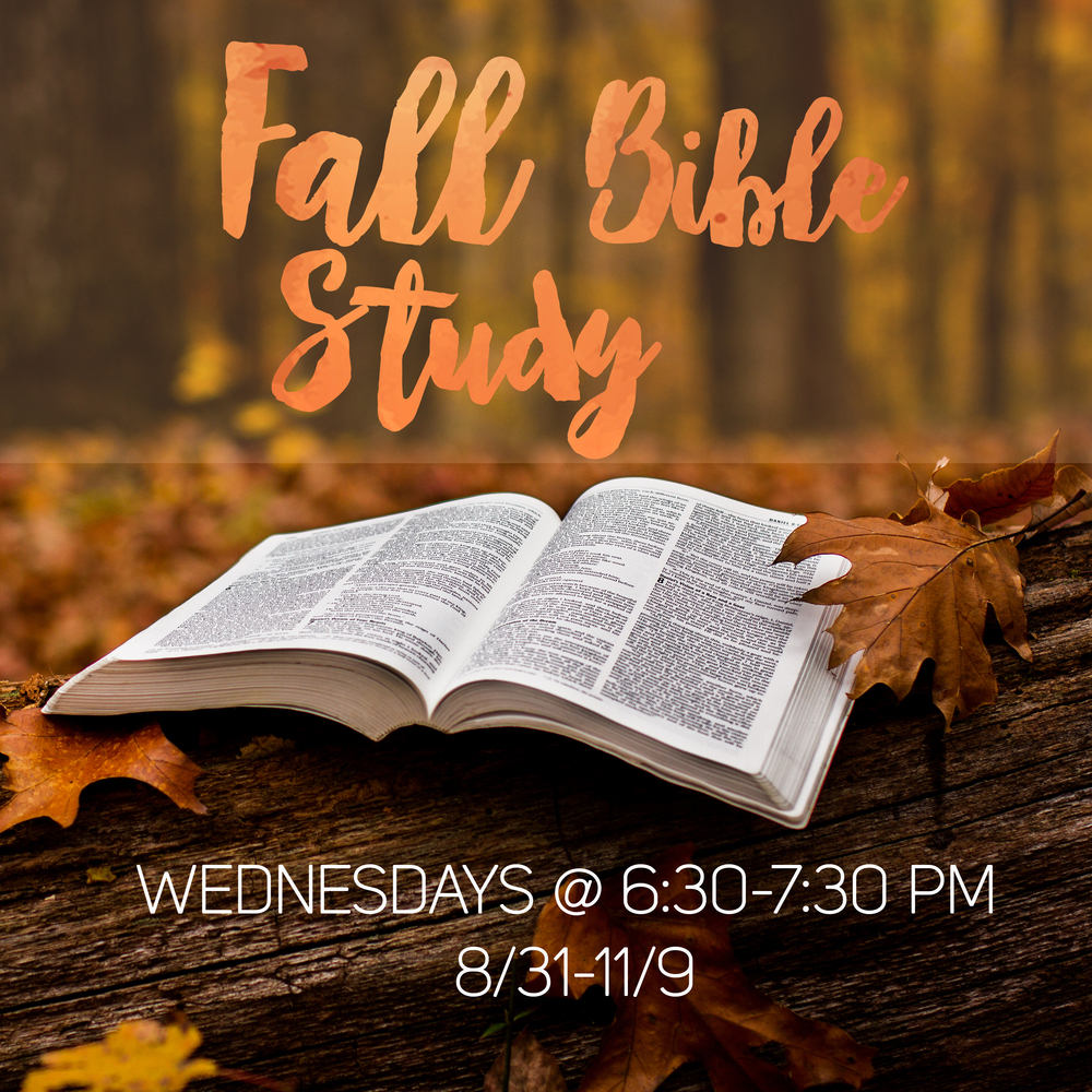 Forest Hills Baptist Church in Raliegh- Looking for a Fall Bible Study with an emphasis on life application? Starting Wednesday, August 31 and continuing through Wednesday, November 9, we will work our way through 1 Corinthians. Each week we will dive into God's Word together and consider how it applies to our daily lives.
