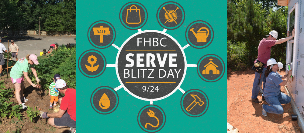 You're invited to serve our baptist church in raleigh and community at a Serve Blitz Day on 9/24. This is a special blitz day, designed as a followup to Bring a Friend Sunday; all our guests will be invited to come back and join us in service together. Come serve on Sept 24, and get to know our guests better! Register at foresthills.org/serveblitzday, or using a signup form in the literature racks.