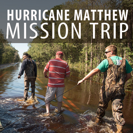 Hurricane Matthew Mission Trip Make plans to join us as we head down to the Red Springs Mission Camp from 11/10-12! All ages (13+) are welcome to join our team as we begin to serve Southeastern NC. This trip is FREE for all participants, but you must register by 10/31. Even if you can't make it for the entire stay (Thurs-Sat), you can still participate. For more information on the trip, and to register, please visit foresthills.org/hurricane