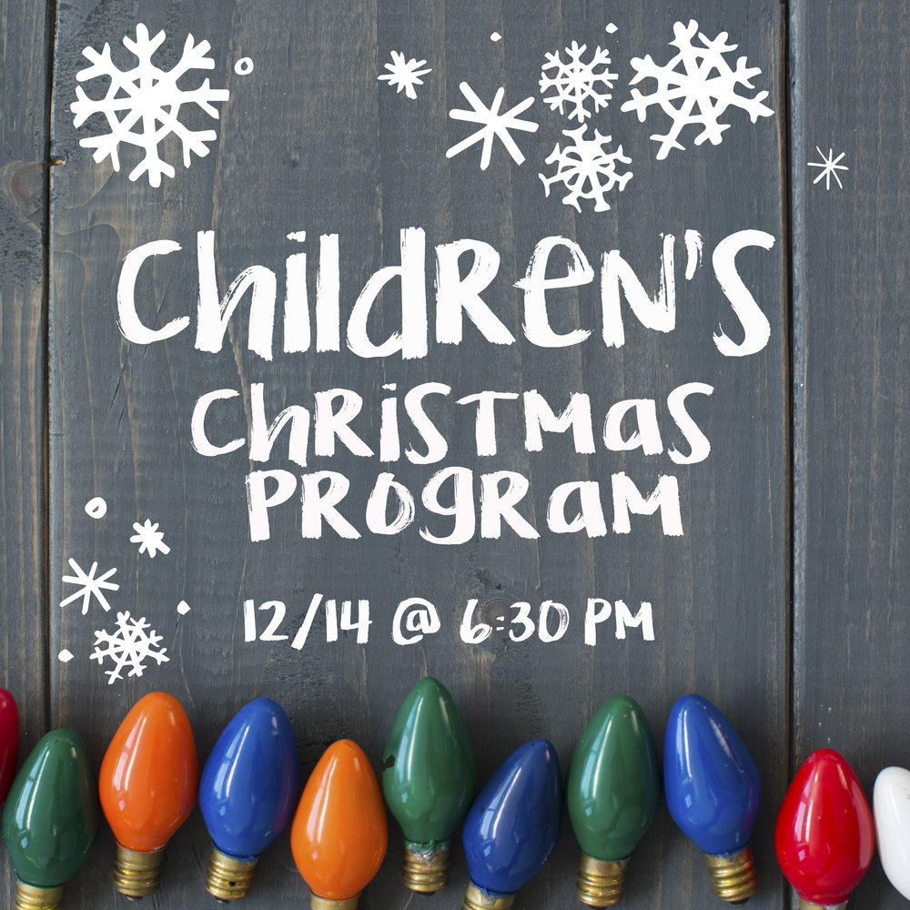 Children\'s Christmas Program — Raleigh Baptist Church |Forest Hills ...