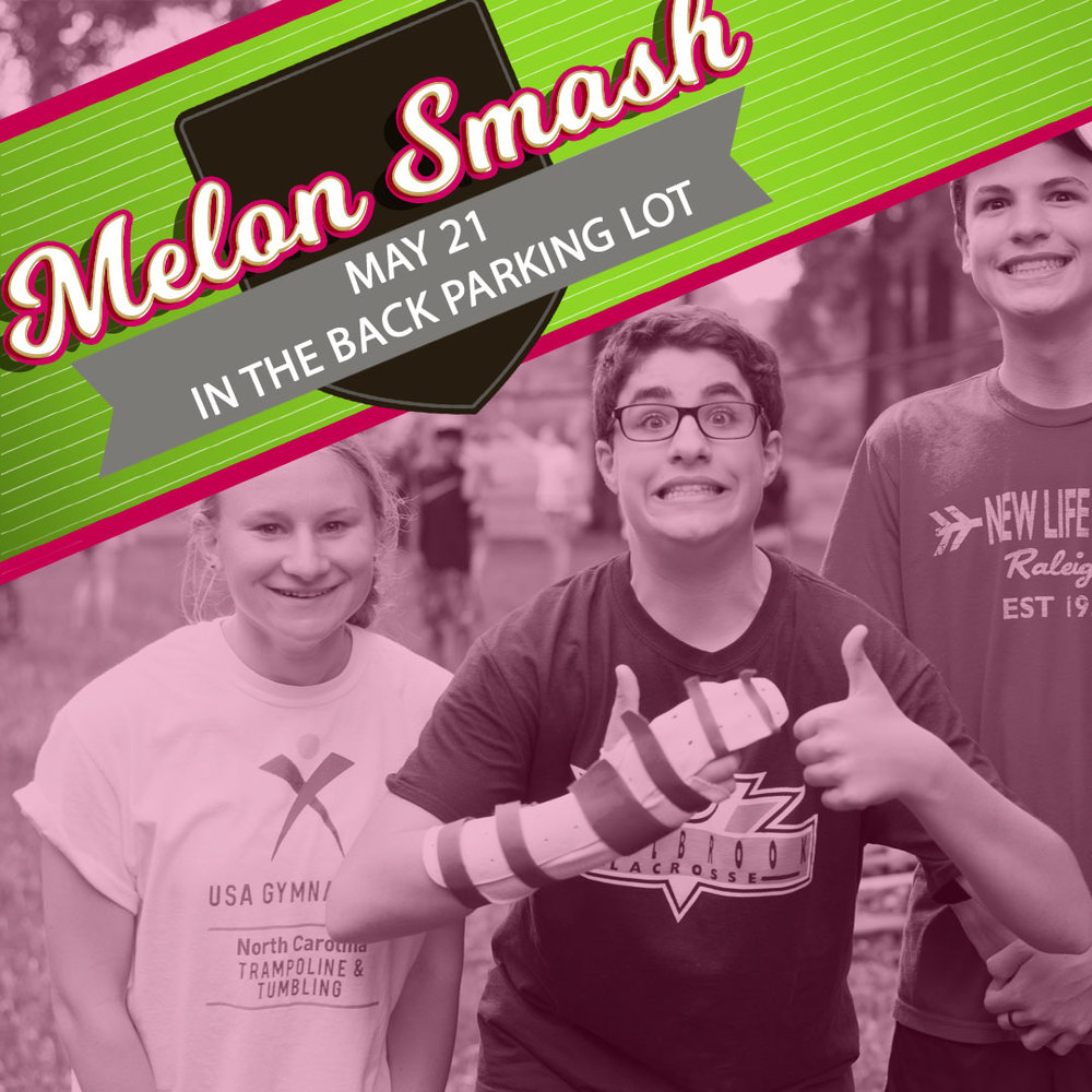 Join us on 5/21 in the back parking lot of Forest Hills at 6:00 pm as we celebrate the Class of 2017. Melon Smash is our annual event where we gather as a group to celebrate our graduating Seniors. This is a family event, so all are welcome to join. We'll be Providing the main course for the event, but we need parents to sign up to bring a side or dessert to share with the group. Sign up at foresthills.org/youth