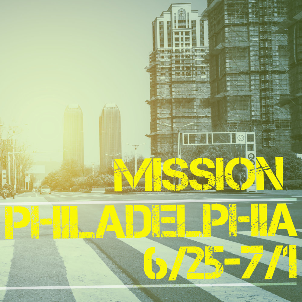 Partnering with Deep Impact, we'll be doing inner city ministry all around Philadelphia. Over the course of the week, we'll be participating in prayer walks, street cleaning, kids outreach, evangelism, and so much more. Be in prayer for our high schoolers and their leaders as they go on mission in Philadelphia!