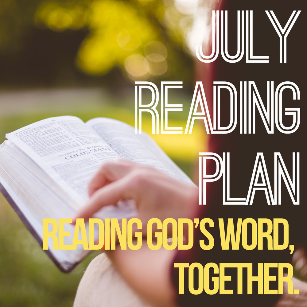 July Reading Challenge-    During the month of July, join us as we work through the book of Proverbs. Sign up for our reading challenge for a daily verse along with a devotional thought. Sign up at    foresthills.org/readingchallenge