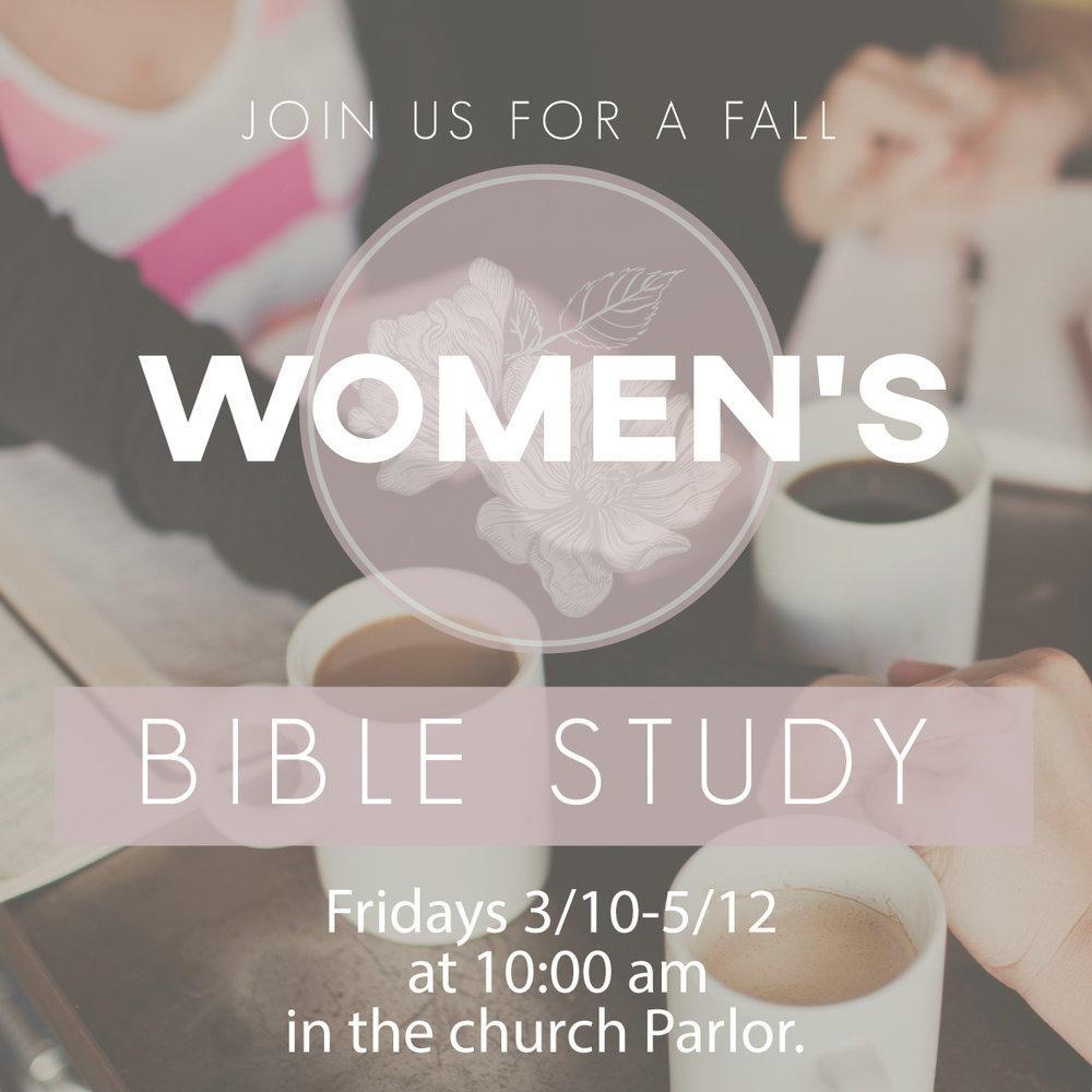 "We will begin a new Women's Bible Study at Forest Hills on Fri, 9/15 at 10:00 am in the church parlor. We will be studying Kelly Minter's ""All Things New,"" a study of the book of 2 Corinthians. Please contact  Cheryl Hibbs  for details."