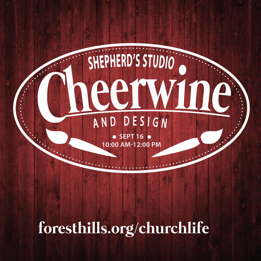"Cheerwine and design         0   0   1   57   328   Forest HIlls Baptist Church   2   1   384   14.0                      Normal   0           false   false   false     EN-US   JA   X-NONE                                                                                                                                                                                                                                                                                                                                                                              /* Style Definitions */ table.MsoNormalTable 	{mso-style-name:""Table Normal""; 	mso-tstyle-rowband-size:0; 	mso-tstyle-colband-size:0; 	mso-style-noshow:yes; 	mso-style-priority:99; 	mso-style-parent:""""; 	mso-padding-alt:0in 5.4pt 0in 5.4pt; 	mso-para-margin:0in; 	mso-para-margin-bottom:.0001pt; 	mso-pagination:widow-orphan; 	font-size:12.0pt; 	font-family:Cambria; 	mso-ascii-font-family:Cambria; 	mso-ascii-theme-font:minor-latin; 	mso-hansi-font-family:Cambria; 	mso-hansi-theme-font:minor-latin;}       The Arts Ministry of Forest Hills invites you to join us for a fun morning of painting at the studio on 9/16 from 10:00 am-12:00 pm. Just show up with your creative juices flowing! We'll provide the snacks, Cheerwine and art part. Get ready for some fun!! Limited seating. Sign up at the Missions Fair or at  foresthills.org/churchlife."