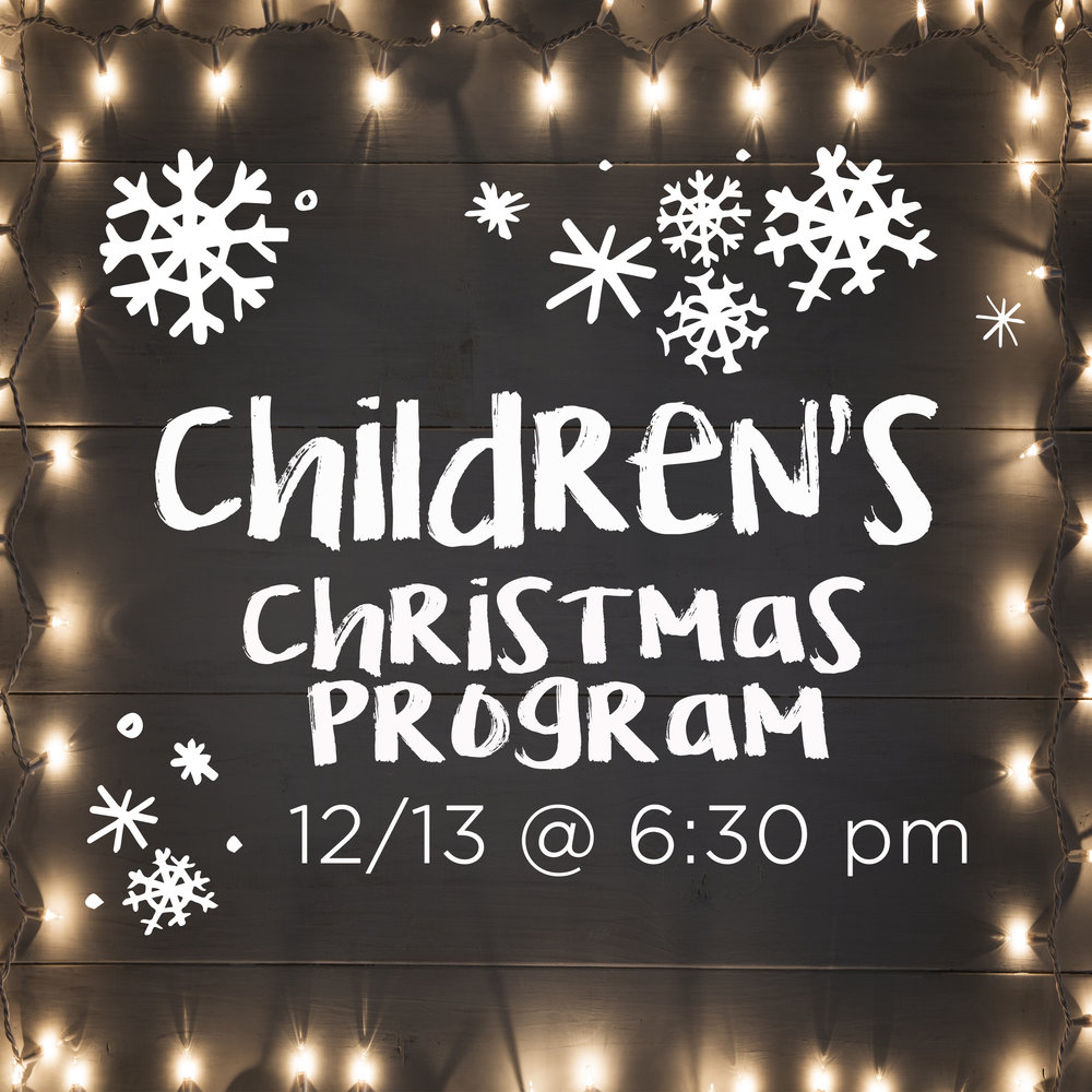 All are invited to hear the Children's Choir    on Wed, 12/13 at 6:30 pm in the sanctuary. Come celebrate the Reason for the season!