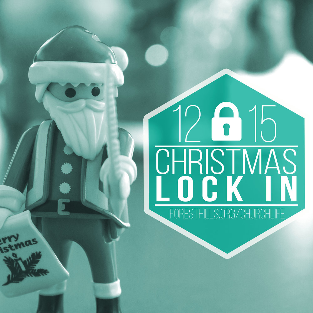 On 12/15, we will be hosting our  Youth Christmas Lock-in  from  7:00 pm- 8:00 am . We'll be ice skating and returning to the church for games and fellowship. This is a great opportunity to invite your friends to join us as we get ready for Christmas.