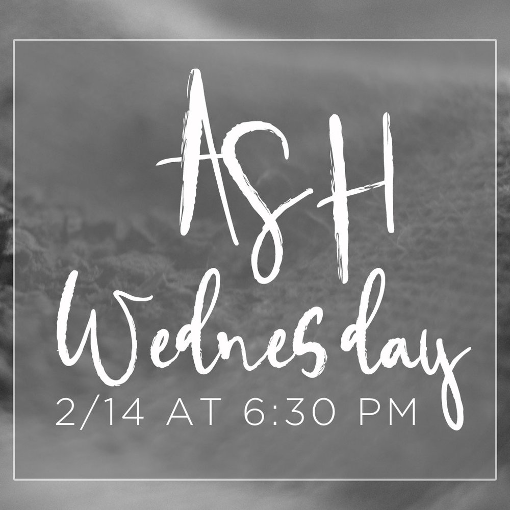On Wed, 2/14, we'll gather in the Sanctuary at 6:30 pm for our Ash Wednesday service. This service will provide times of reflection and confession as we enter the season of Lent, itself a time of fasting and moderation in preparation for Easter. All are invited.