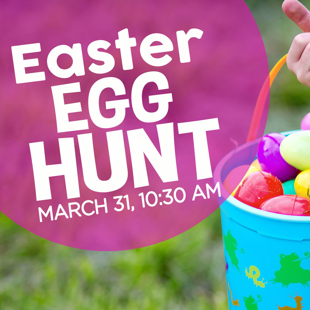 Children from birth-5th grade are invited to join us for our Easter Egg Hunt on 3/31 at 10:30 AM. Meet in the fellowship hall for Easter activities, the Easter story, and the egg hunt. A parent or guardian must accompany children during the event. RSVP at  foresthills.org/churchlife . Rain will cancel this event, so check the website for weather updates.
