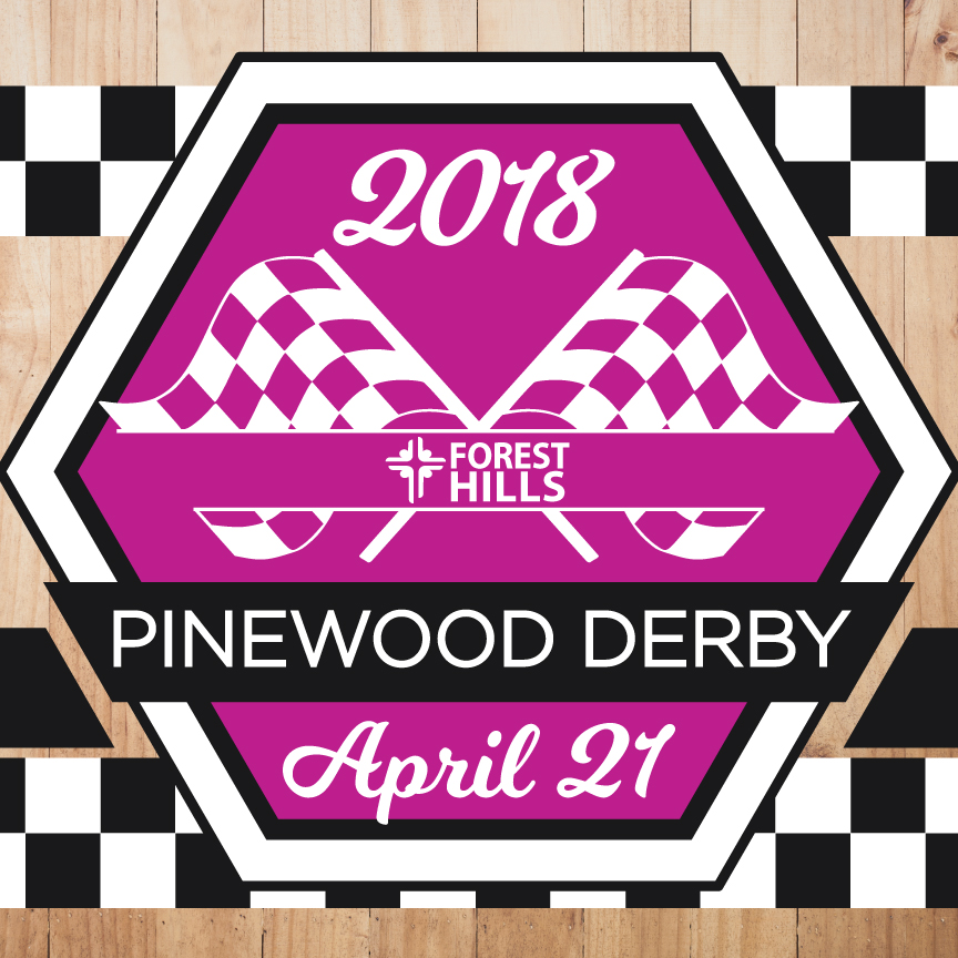 Children, youth, and adults are invited to join us for a church-wide pinewood derby on April 21. Children will race from 9 am-1 pm, and youth and adults from 1 pm-4 pm. Register for a car and get full details at  foresthills.org/churchlife .