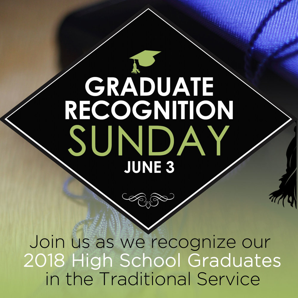 Graduation Recognition Sunday- Come join us in the Sanctuary on Sun 6/3 at 11:00am for worship and special recognition and charge for our 2018 graduating seniors.