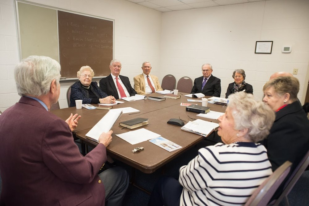 Next to Heaven - The Gleaners Class is a co-ed class of senior adults who enjoy fellowship, Bible Study, and discussion, along with occasional social outings. We welcome any new members.
