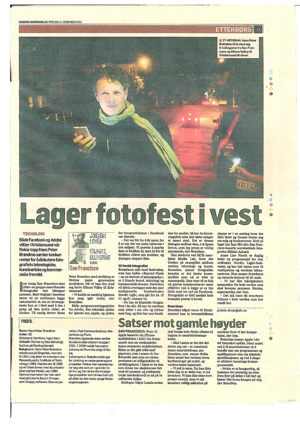Dagens Næringsliv 14.12.2012